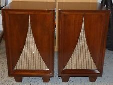 Pair Vintage Karlson Speaker Cabinets with University Diffusicone Eight 8-16 Ohm