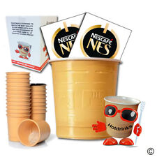 More details for box of 300 (12 x 25) nescafe 'nes' coffee in cup, incup drinks for 73mm vending