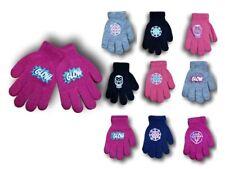 Girls Children Kids Winter Autumn Glow In The Dark Acrylic Gloves Size 4-10Years