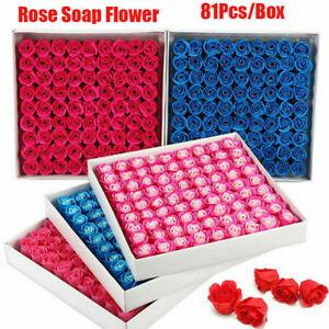 Scented Rose Flower Petal Bath Soap for Foot Bath Body Bath Wedding Gift 81Pcs