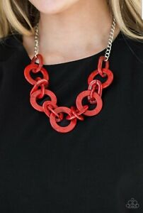 Chromatic Charm~ Red Necklace