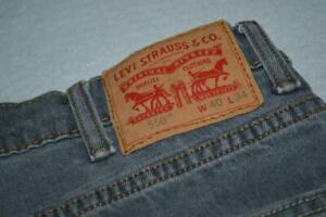 20087-a Mens Levis 550 Blue Jeans Straight Fit Gray Size 38 x 33