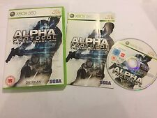 PAL XBOX 360 GAME ALPHA PROTOCOL THE ESPIONAGE RPG +BOX & INSTRUCTIONS COMPLETE