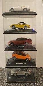 5 X HONGWELL 1:76 Diecast Cars Porsche,Lexus,Mercedes,Mazda,MGB