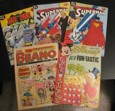 Lot of *5* 1980s UK/British Comics: •2 SUPERMAN/Byrne! •BATMAN •Scrooge •Beano