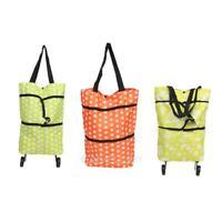 Foldable Shopping Trolley Bag Rolling Wheel Cart Tote Grocery Handbag   E0Xc