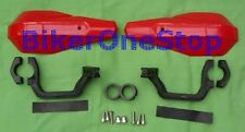 BRG07R - HANDGUARDS Protectors Hand Guards For 22mm & 25mm Motorcycle Bars RED