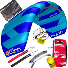 Peter Lynn Hype 2.3 Foil Power Stunt Kite 2 Line Control Strap Speed Wing Blue