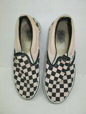 USED Men's VANS Older Anaheim #98 SLIP ON Size 5 Black & White Checkerboard GOOD