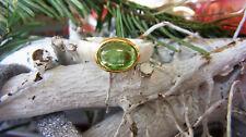 SCHMUCK-STCK RING SILBER grün TURMALIN NEU 54 17 vergoldet