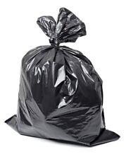 100 Black Wheelie Bin Liners Strong Refuse Sacks Rubbish Bags