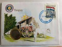 Numisbrief m. Münze + Banknotenbrief Paraguay +++ UNC +++ NEU