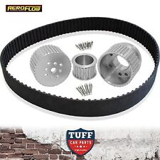 Ford Mustang 289 302 351 Windsor V8 Aeroflow Silver Billet Gilmer Belt Drive Kit