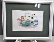 STREET CAR WATERCOLOR SIGNED R. COON 5/500 1997