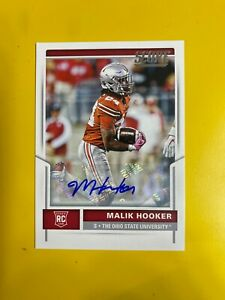 D33212 2017 Score Rookie Autographs #334 Malik Hooker