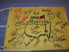 2008 SIGNED MASTERS FLAG W/ 25 CHAMPIONS PALMER NICKLAS