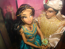 DISNEY Princess JASMINE & ALADDIN Doll Set Designer Fairytale Couples LE 6000