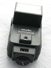 Minolta Auto 320X Shoe Mount Flash Unit FLashgun