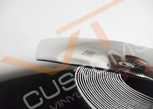 Silver Chrome Styling Moulding Trim Strip With 3M Adhesive Suitable for Car Van