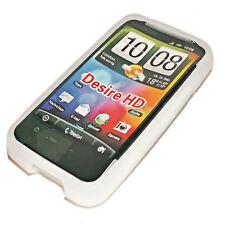 SILICONE TPU per cellulare Cover Case Guscio Guscio Per HTC Desire HD in TRASPARENTE BIANCO