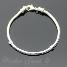 18CM 3MM THICK SNAKE CHAIN STERLING SILVER FILLED GIRLS WOMENS MENS BRACELET