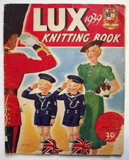 Vintage 1939 Lux Soap Knitting Book Ginger Rogers sweater Dress blouse shrug
