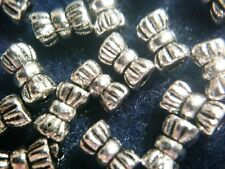 Spacer Beads Antique Silver Metal Bow-Tie Tubes 20pcs