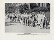 AIREDALE TERRIER ORIGINAL VINTAGE DOG PRINT PAGE 1934 ARDROSS PUPILS EXERCISING