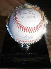 Don Larsen David Wells Signed Perfect Game Baseball w/ Display Case JSA