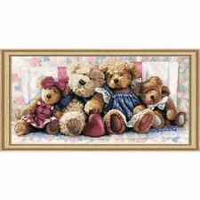 Counted Cross Stitch Kit A ROW OF LOVE Teddy Bear Dimensions Gold Collection