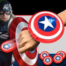 Marvel Avengers Shield Captain America Light / Music Launcher Kids Toys Gifts