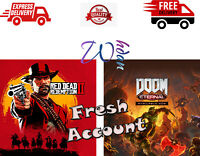 Red Dead Redemption 2 PC + Doom Eternal PC Offline Account Plus 50 +games