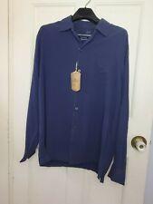 Tommy Bahama Men's Blue Catalina Twill Silk Long-Sleeve Shirt Size XL NWT