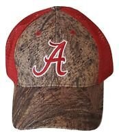 Alabama Crimson Tide Hat Mossy Oak Camo Mesh Trucker Cap