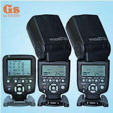 Yongnuo YN560-TX LCD Wireless Flash Controller + 2pcs YN560 III Flash For Canon