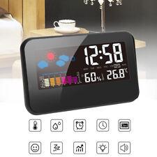 Digital LED Termómetro Humedad Metro Higrómetro Habitación Temperatura DeckReloj