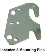 """Universal Wood Bed Rail 2"""" Bracket Metal Claw Hook Plate - Includes Pins"""