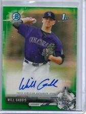 Will Gaddis 2017 Bowman Chrome Green Refractor Autograph #35/99