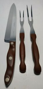 Set Cutco Carving Set Knife Fork w/Wall Holder 25 26 27 Cutlery