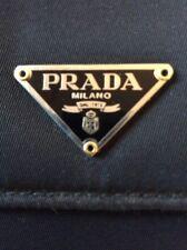 Prada 100% Mens Trifold Wallet Tessuto Nylon Saffiano Leather Black