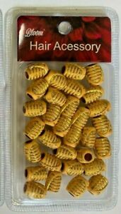 """Hair Accessories: Wooden Beads For Hair GOLD """"LOVE"""" WD005"""