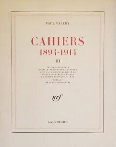 Paul Valéry : Cahiers - 1894 - 1914 - Tome III