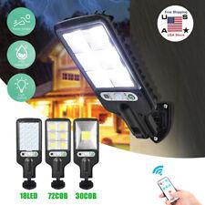 LED Solar Street Wall Lights PIR Motion Sensor Outdoor Garden Yard Lamp Remote