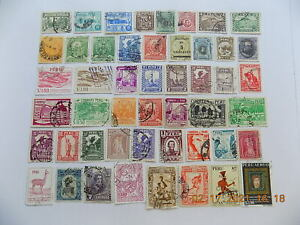Peru Collection of used stamps off paper-2-PE
