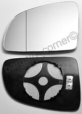 Left Side Wing Mirror Glass HEATED Wide Angle Vauxhall MERIVA 2003-2010