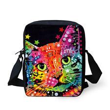 Fashion Cat Printing Shoulder Bag Small Messenger Cross Body Bags Sling Purse