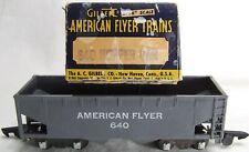 1949-53 AF Gray-Plastic 640 Coal Hopper White Letters OB AMERICAN FLYER S-Gauge.