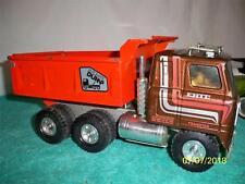 "Ertl Hydraulic Dump Truck 1970's Fully Working Rare Color Press Steel 13 "" long"