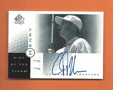 2001 SP AUTHENTIC SIGN OF THE TIMES JJ HENRY ON CARD AUTO #JJ