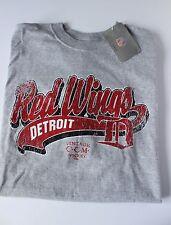 BRAND NEW REEBOK Red Wings Detroit Vintage CCM Hockey NHL Gray T Shirt Size XL